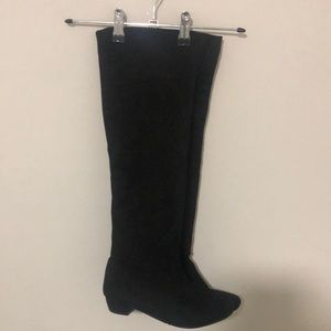 Faux suede knee high boots - near new